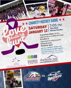 """1st Annual """"Love Shouldn't Hurt"""" Spirit Hockey Game @ The Dow Event Center"""