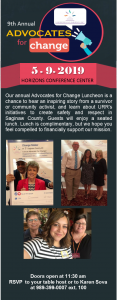 9th Annual Advocates for Change Luncheon @ Horizons Conference Center