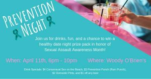 Prevention Night - Woody O'Briens @ Woody O'Briens Pub